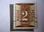 Stamps of the world : Hungary :  Números- Franqueo