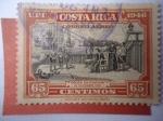 Stamps Costa Rica -  Colón en cariari, 18 de Sep. 1502 - UPU - Descubridores.