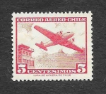 Stamps : America : Chile :  C237 - Avión