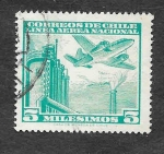Stamps Chile -  C226 - Avión