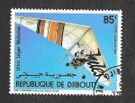 Stamps : Africa : Djibouti :  C194 -Ultraligero