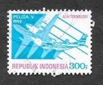 Stamps Indonesia -  1489 - Avión