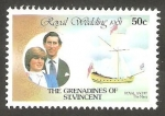 Stamps : America : Saint_Vincent_and_the_Grenadines :  210 - Boda Real del Príncipe Carlos y Lady Diana Spencer