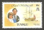 Stamps : Oceania : Tuvalu :  155 - Boda Real del Príncipe Carlos y Lady Diana Spencer
