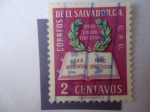 Sellos de America - El Salvador -  Dios Unión Libertad - Constitución y Corona de Laurel - Revolución Constitución 1948-1950.