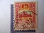 Stamps Sri Lanka -  Roca Sigiriya-(Roca Leon) Patrimonio de la Humanidad-Unesco,1982.