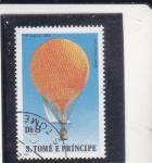 Sellos de Africa - Santo Tomé y Principe -  GLOBO THE EAGLE 1896