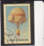 Stamps São Tomé and Príncipe -  GLOBO- JOHN WISE-ATLANTIC 1859
