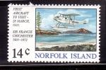 Stamps Australia -  Visita en hidroavion de F. Chichester