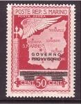 Sellos de Europa - San Marino -  Gobierno Provisional