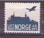 Sellos de Europa - Noruega -  Correo aéreo