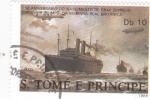 Stamps São Tomé and Príncipe -   150 aniversario de FERDINAND VON ZEPPELIN-Y MARINA REAL BRITÁNICA