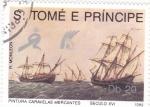 Stamps São Tomé and Príncipe -  PINTURAS CARAVELAS MERCANTES SIGLO XVI