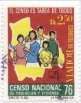Stamps Bolivia -  Censo Nacional