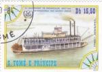 Sellos de Africa - Santo Tomé y Principe -  25 ANIVERSARIO ORGANIZACIÓN MARÍTIMA INTERNACIONAL DE LAS NACIONES UNIDAS