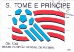 Stamps : Africa : São_Tomé_and_Príncipe :  CAMPEONATO MUNDIAL FUTBOL BRASIL