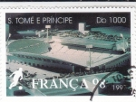 Sellos del Mundo : Africa : Santo_Tomé_y_Principe : CAMPEONATO MUNDIAL FRANCIA'98