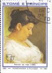 Stamps São Tomé and Príncipe -  RETRATO DE MAE-HOMENAJE A PICASSO