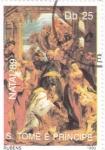 Stamps São Tomé and Príncipe -  NAVIDAD-89  RUBENS