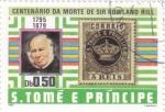 Stamps : Africa : São_Tomé_and_Príncipe :  CENTENARIO DE LA MUERTE DE SIR ROWLAND HILL