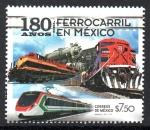 Sellos del Mundo : America : México : 180  AÑOS  DEL  FERROCARRIOL  NACIONAL