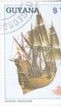 Sellos de America - Guyana -  GRANDE FRANCOISE