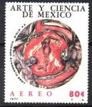 Sellos del Mundo : America : México : HOMBRE  EN  LLAMAS.  PINTURA  DE  JOSÉ  CLEMENTE  OROZCO