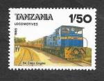 Sellos de Africa - Tanzania -  284 - Locomotora