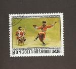 Sellos de Asia - Mongolia -  Bailes típicos