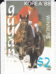 Stamps : America : Guyana :  KOREA 88