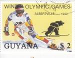 Sellos del Mundo : America : Guyana : OLIIMPIADA INVIERNO ALBERTVILLE