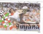 Sellos del Mundo : America : Guyana : COPA MUNDIAL DE FUTBOL ITALIA'90