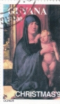 Stamps : America : Guyana :  NAVIDAD-91 VIRGEN Y NIÑO JESUS.DÜRERO