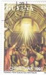 Stamps : America : Guyana :  NAVIDAD-93  PENTECOSTES-TIZIANO