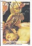 Stamps : America : Guyana :  NAVIDAD-93 SANSON Y DALILA- RUBENS