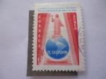 Stamps El Salvador -  II Congreso Eucarístico Nacional, San Salvador 16/19 de Abril/64. El Salvador C.A.