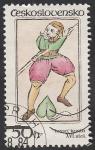 Stamps Czechoslovakia -  2593 - Carta, Sota de picas