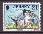 Sellos de Europa - Isla de Jersey -  serie- Aves marinas