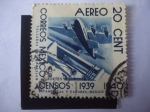 Stamps Mexico -  Transportes. Correos de Mexico-Censos
