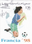 Stamps : Africa : Morocco :  COPA MUNDIAL DE FUTBOL FRANCIA