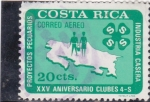 Stamps : America : Costa_Rica :  XXV ANIVERSARIO CLUBES
