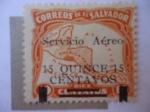 Sellos de America - El Salvador -  Mapa de Centro América