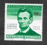 Stamps Rwanda -  92 - Centenario de la Muerte de Abraham Lincoln