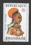 Stamps Rwanda -  398 - Tocados Africanos