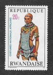 Stamps Rwanda -  343 - Constumbres Nacionales Africanas