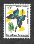 Stamps : Africa : Rwanda :  114 - Mariposa