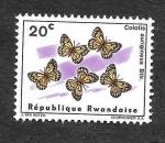 Stamps : Africa : Rwanda :  116 - Mariposa
