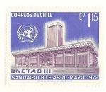 Stamps Chile -  III Conferencia de la UN.  UNCETAD III.