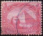 Stamps Africa - Egypt -  Piramide y Esfinge