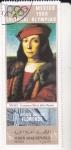 Stamps : Asia : Yemen :  RETRATO DE RAFAEL -OLIMPIADA MEXICO